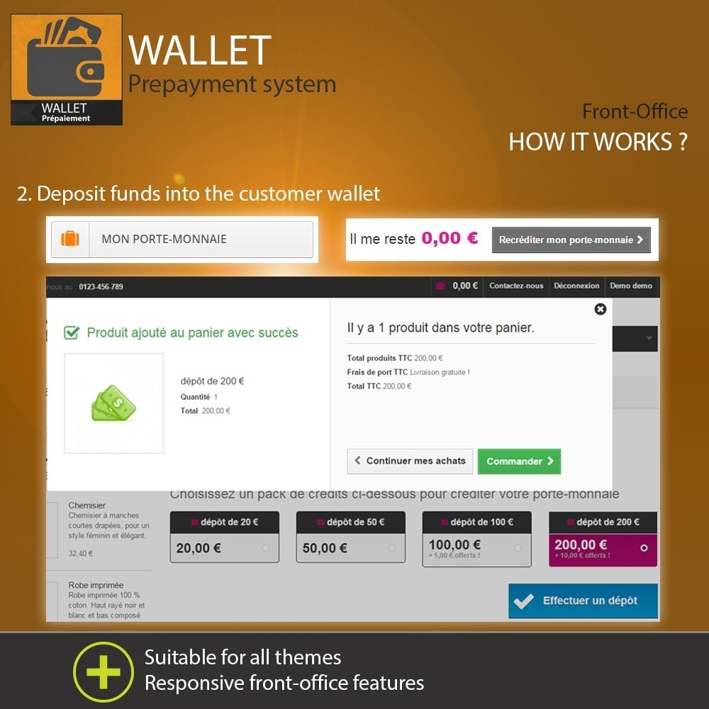 module - Payment by Card or Wallet - Wallet - Prepayment with cash back system - 4