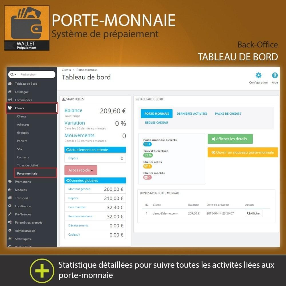 module - Paiement par Carte ou Wallet - Porte-monnaie - Prépaiement avec système de cash back - 1