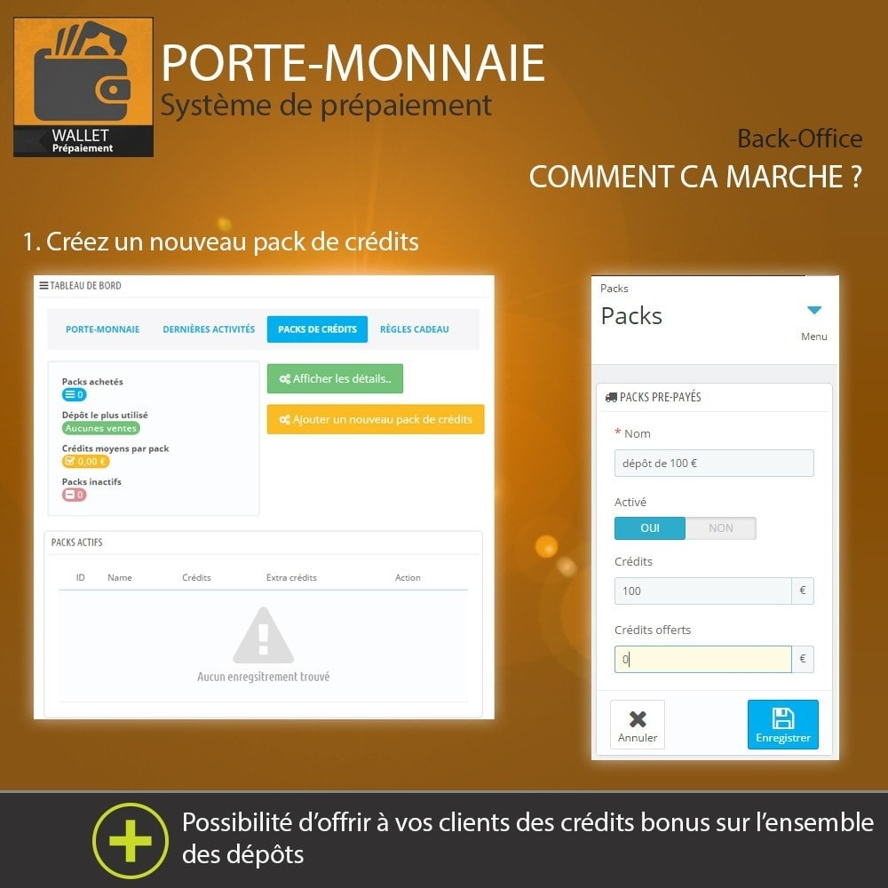module - Paiement par Carte ou Wallet - Porte-monnaie - Prépaiement avec système de cash back - 3