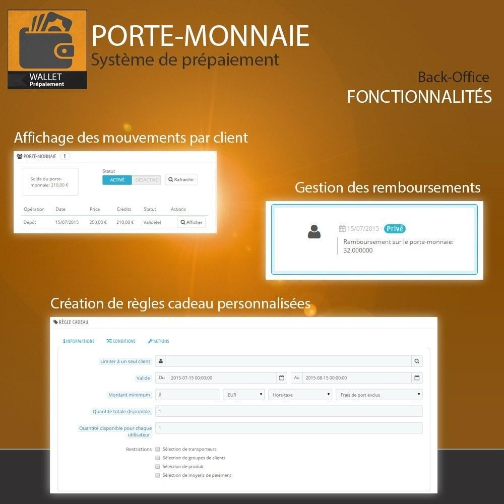 module - Paiement par Carte ou Wallet - Porte-monnaie - Prépaiement avec système de cash back - 6