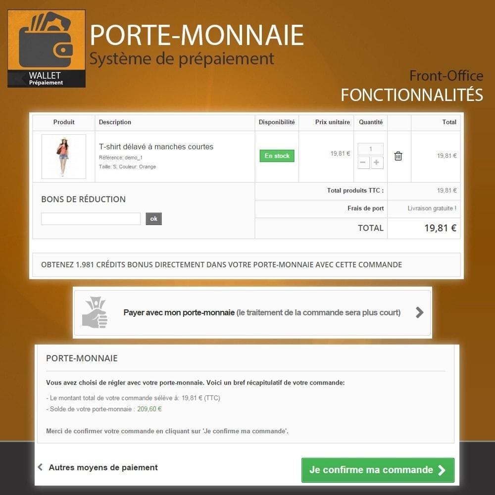 module - Paiement par Carte ou Wallet - Porte-monnaie - Prépaiement avec système de cash back - 8