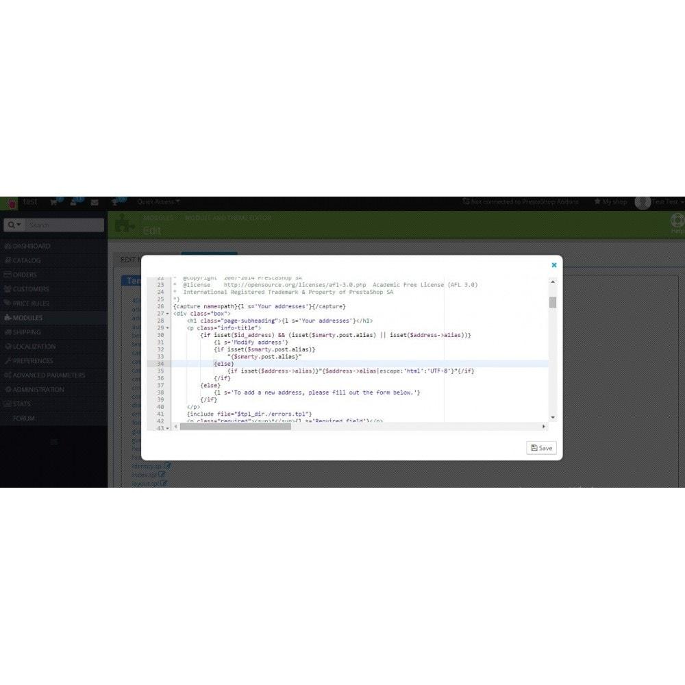 module - Page Customization - Modules and theme editor - 3