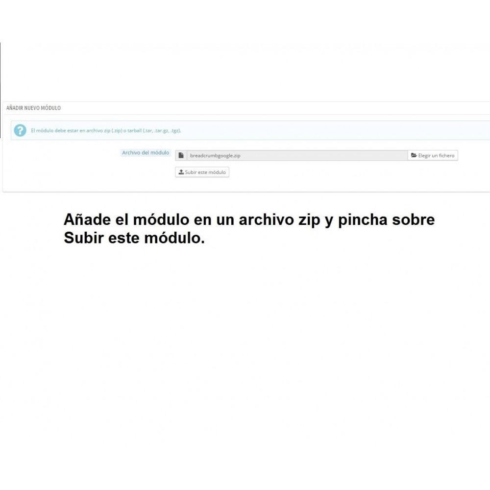 module - SEA SEM pago & Filiação - Breadcrumbs microdata - PrestAyuda.es - 2