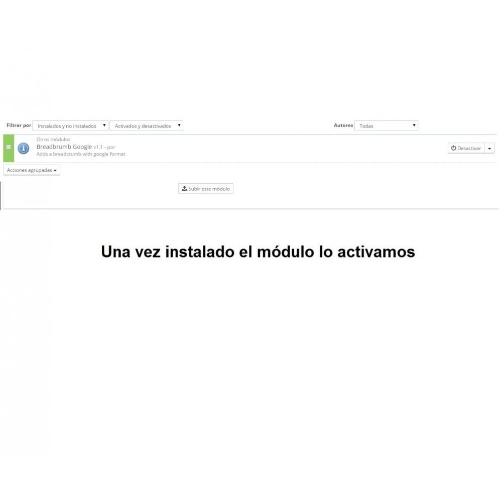 module - SEA SEM pago & Filiação - Breadcrumbs microdata - PrestAyuda.es - 3