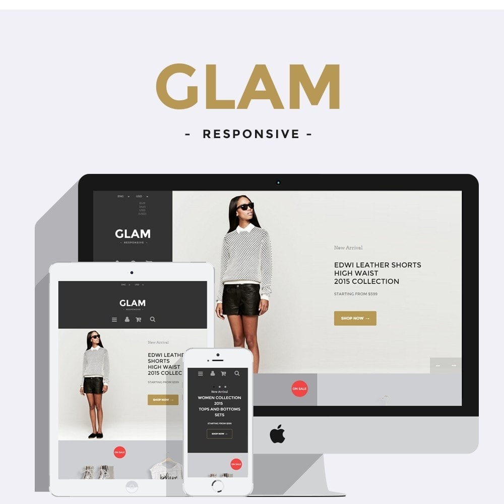 theme - Fashion & Shoes - Glam Prestashop 1.6 Responsive Template - 1