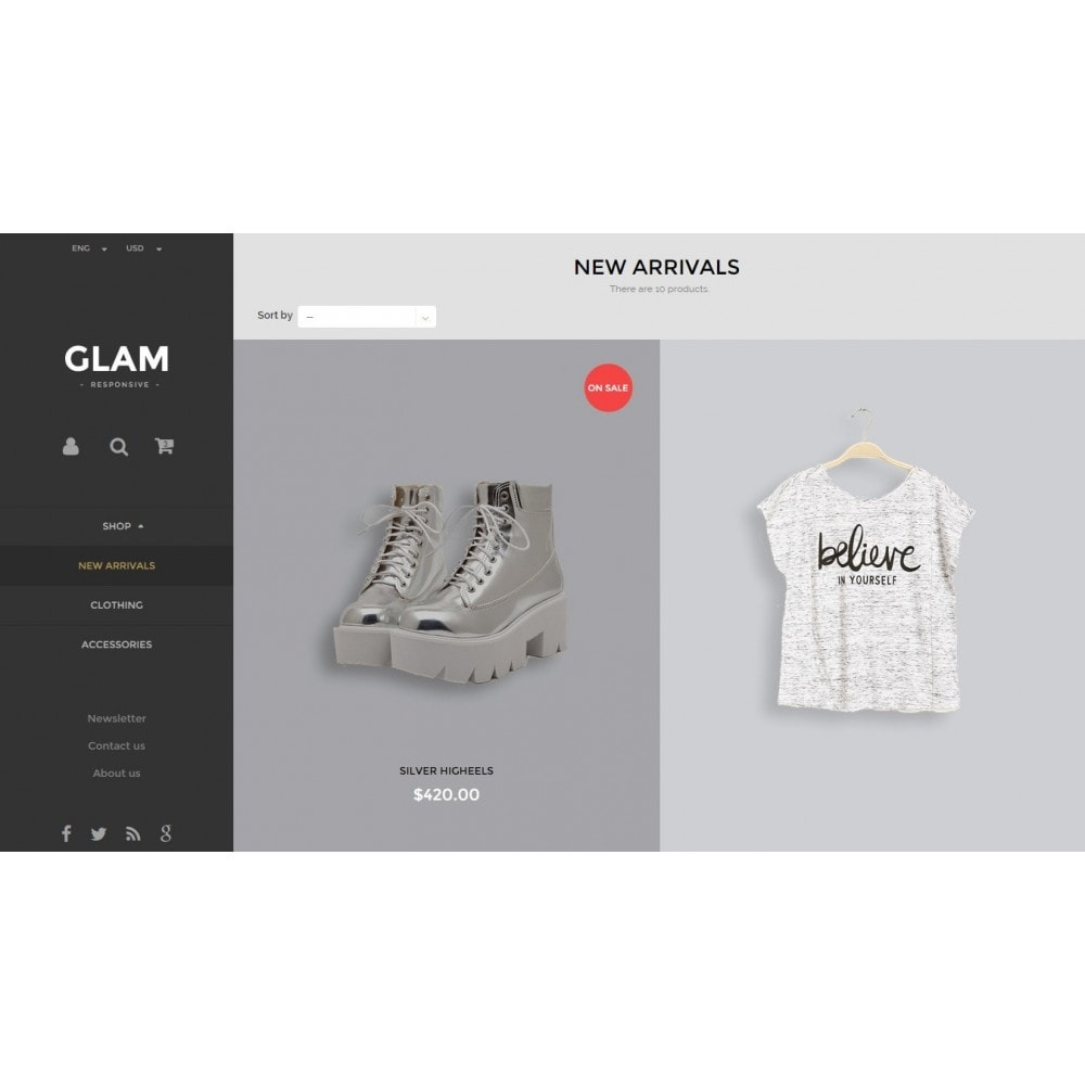 theme - Fashion & Shoes - Glam Prestashop 1.6 Responsive Template - 9