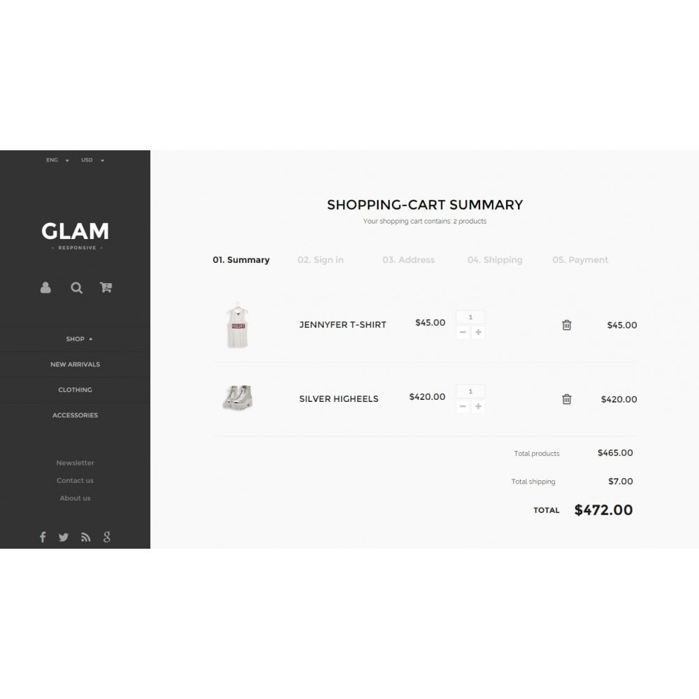 theme - Fashion & Shoes - Glam Prestashop 1.6 Responsive Template - 10
