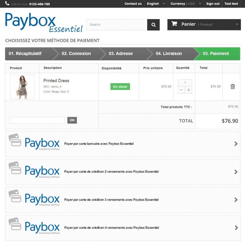 module - Paiement par Carte ou Wallet - Verifone E-commerce (Paybox Essentiel) - 1.5, 1.6 & 1.7 - 3