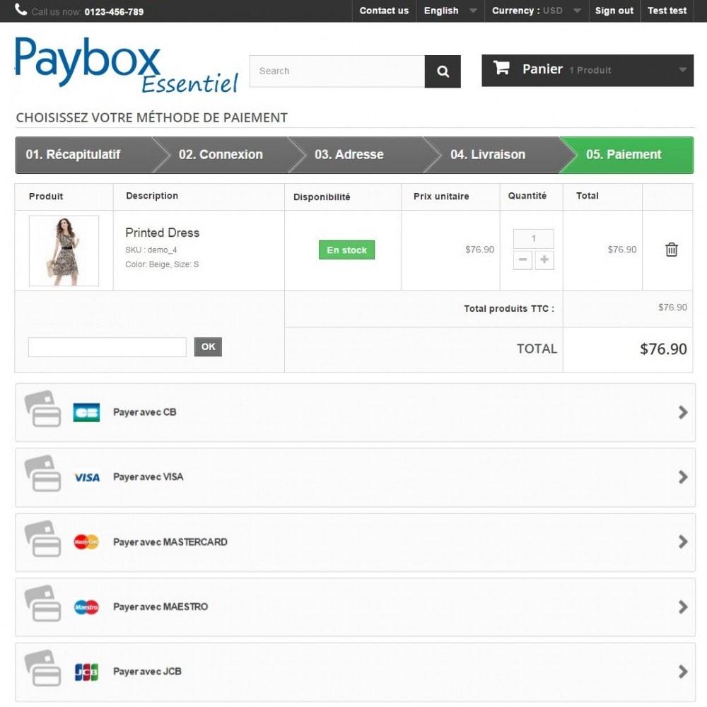 module - Paiement par Carte ou Wallet - Verifone E-commerce (Paybox Essentiel) - 1.5, 1.6 & 1.7 - 5