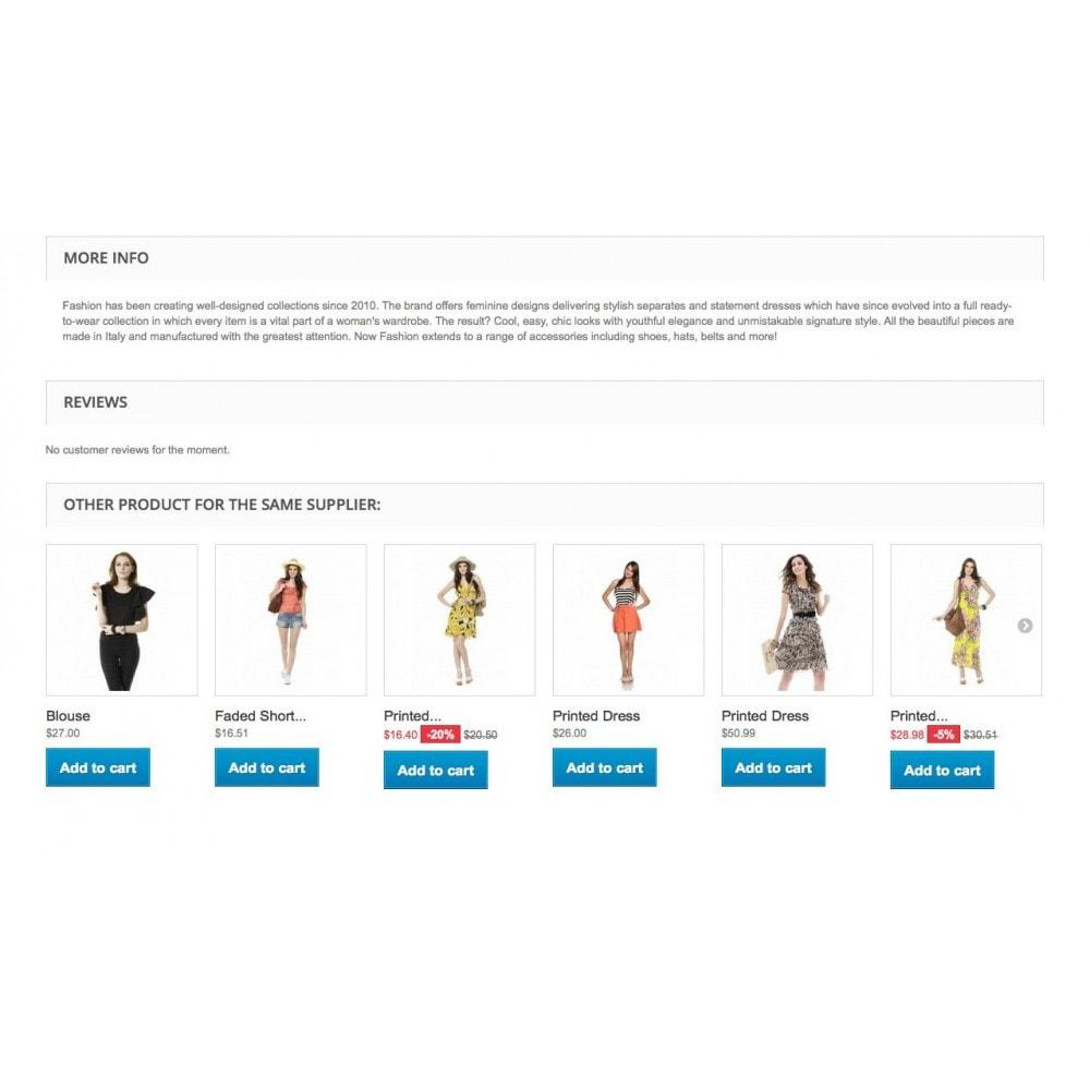 module - Information supplémentaire & Onglet produit - Bloc produits du même fournisseur - 1