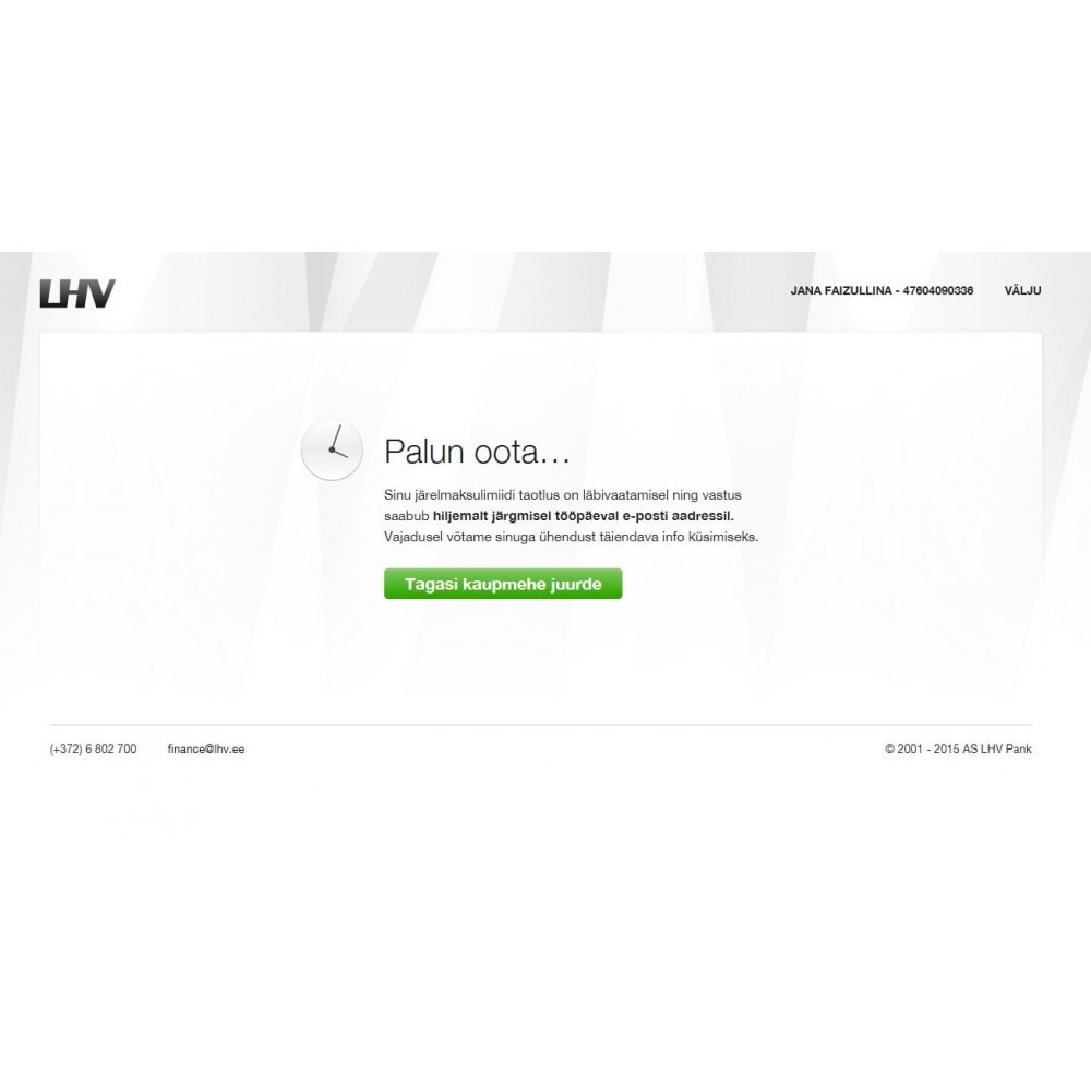 module - Payment by Card or Wallet - LHV Leasing - 1