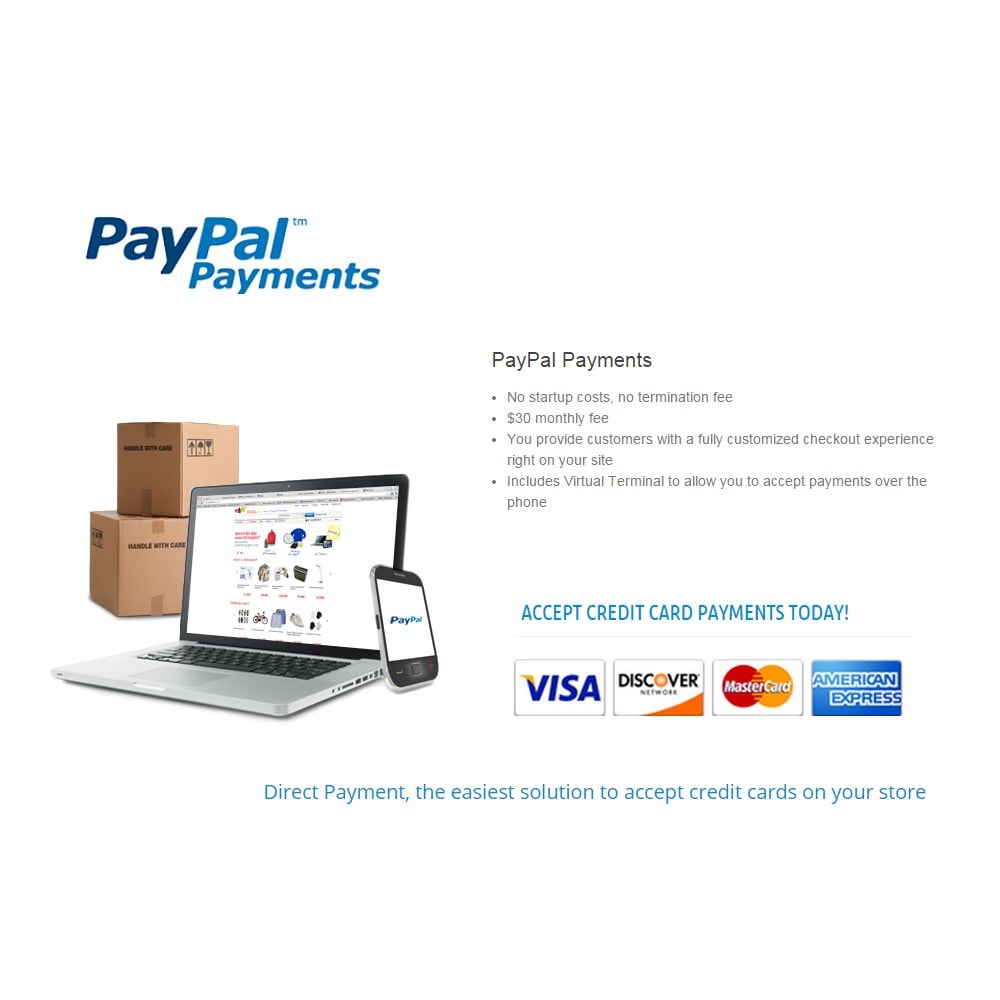 module - Creditcardbetaling of Walletbetaling - PayPal Direct Payments - 2