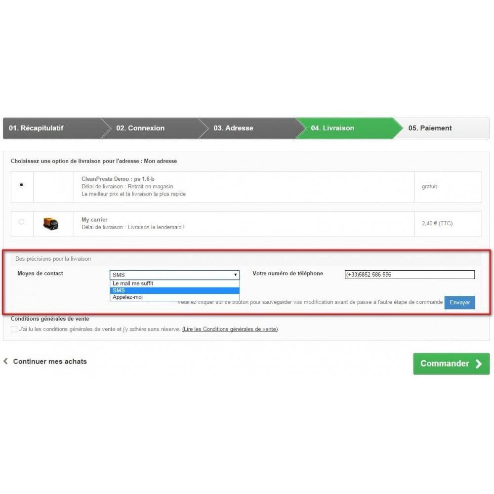 module - Anmeldung und Bestellvorgang - Custom Fields during the ordering process - 3