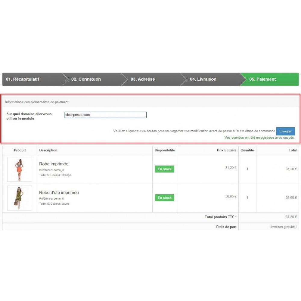 module - Anmeldung und Bestellvorgang - Custom Fields during the ordering process - 4