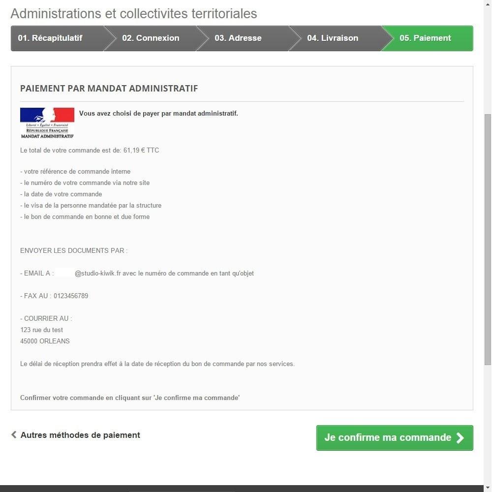 module - Paiement par Transfert Bancaire - Paiement par mandat administratif - 4