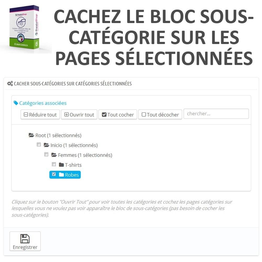 module - Outils d'administration - Cacher / Masquer Bloc de Sous-Catégories sur Catégories - 2