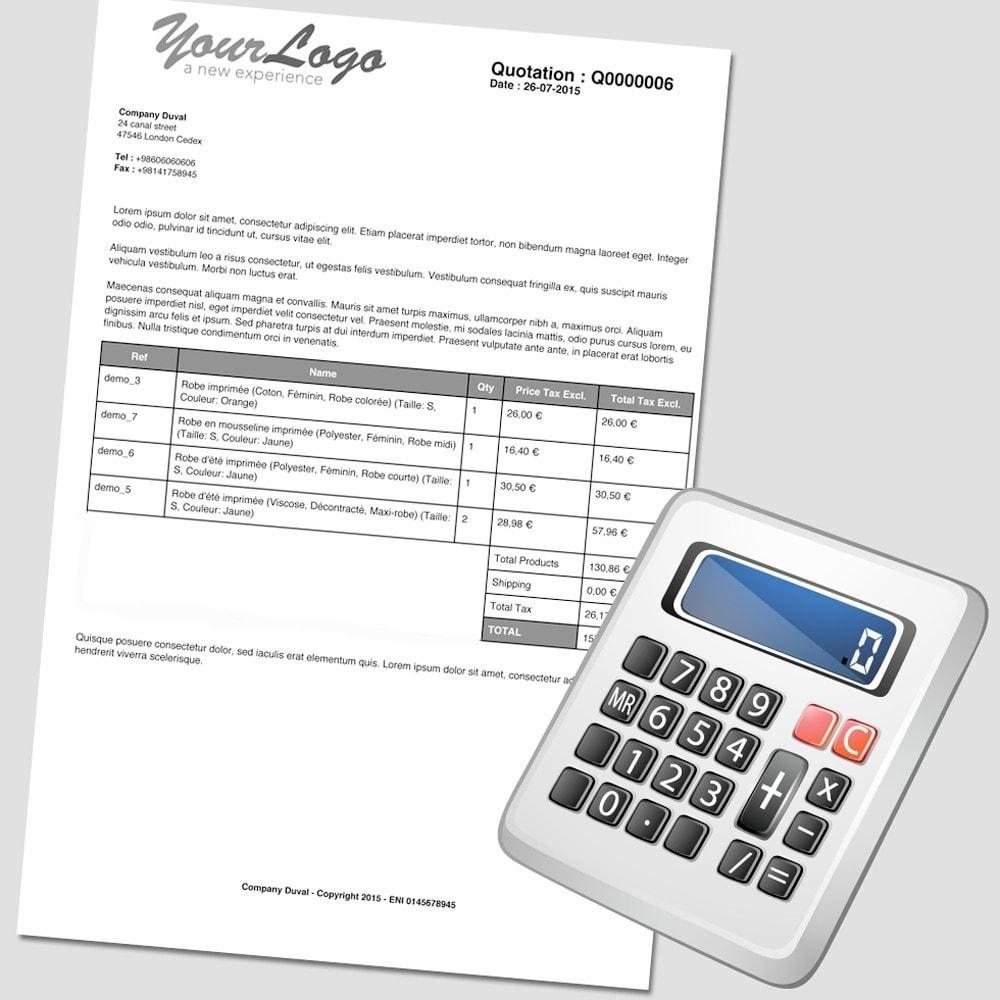 module - Presupuestos - PDF Quotation - 1