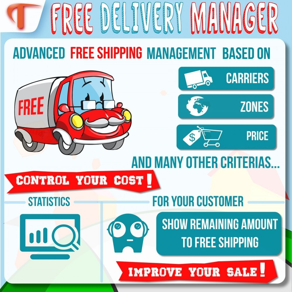 module - Стоимость доставки - Free Delivery Manager - 2