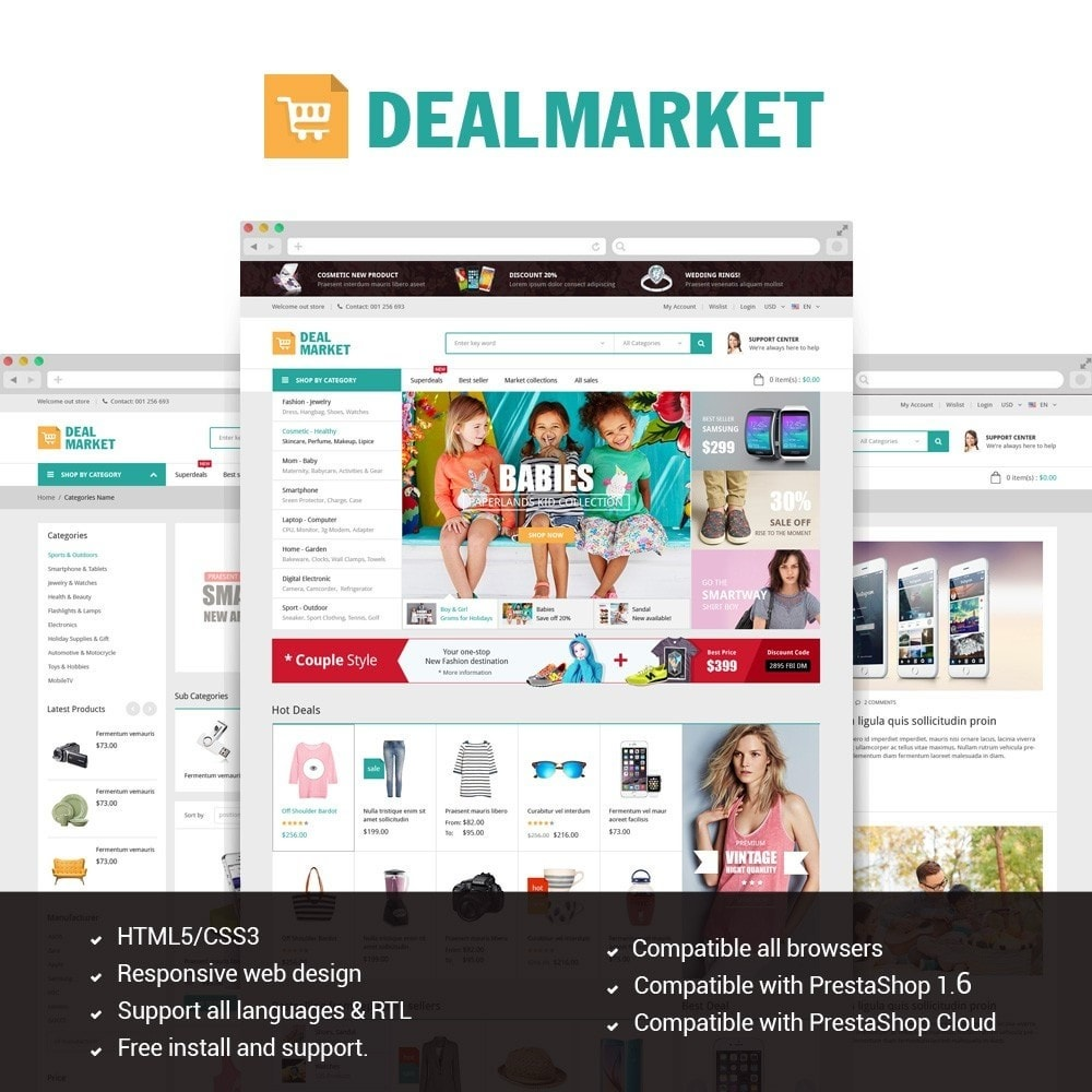theme - Мода и обувь - DealMarket - Fashion Store - 1