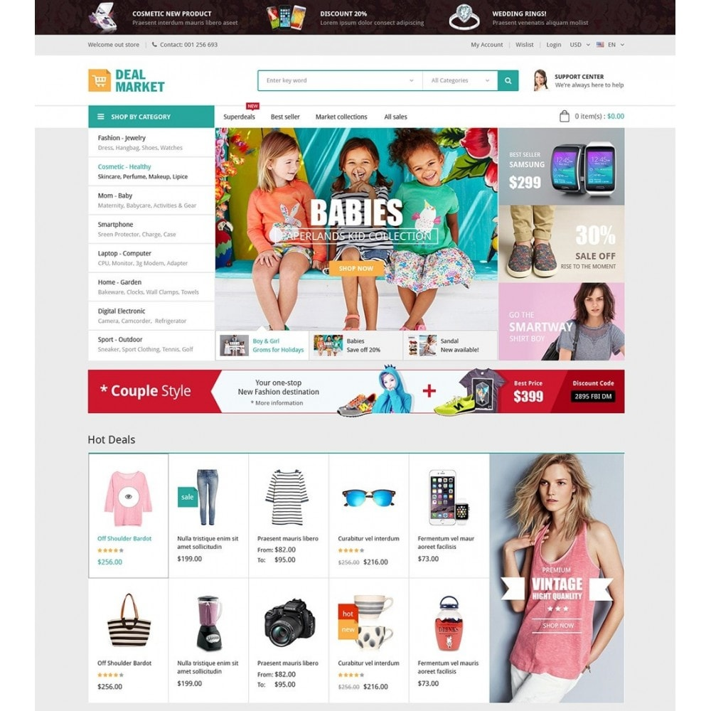 theme - Moda & Calçados - DealMarket - Fashion Store - 2