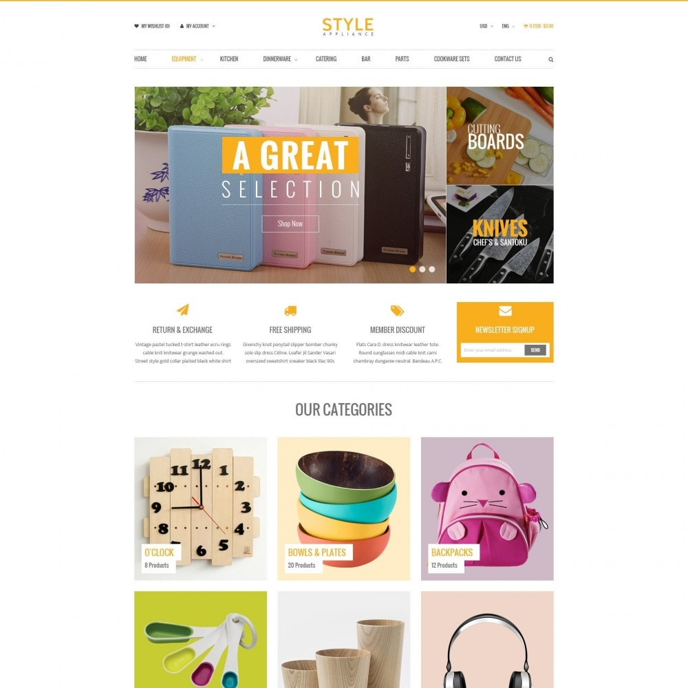 theme - Casa & Giardino - Kitchen & Home Appliances Responsive PrestaShop Theme - 1