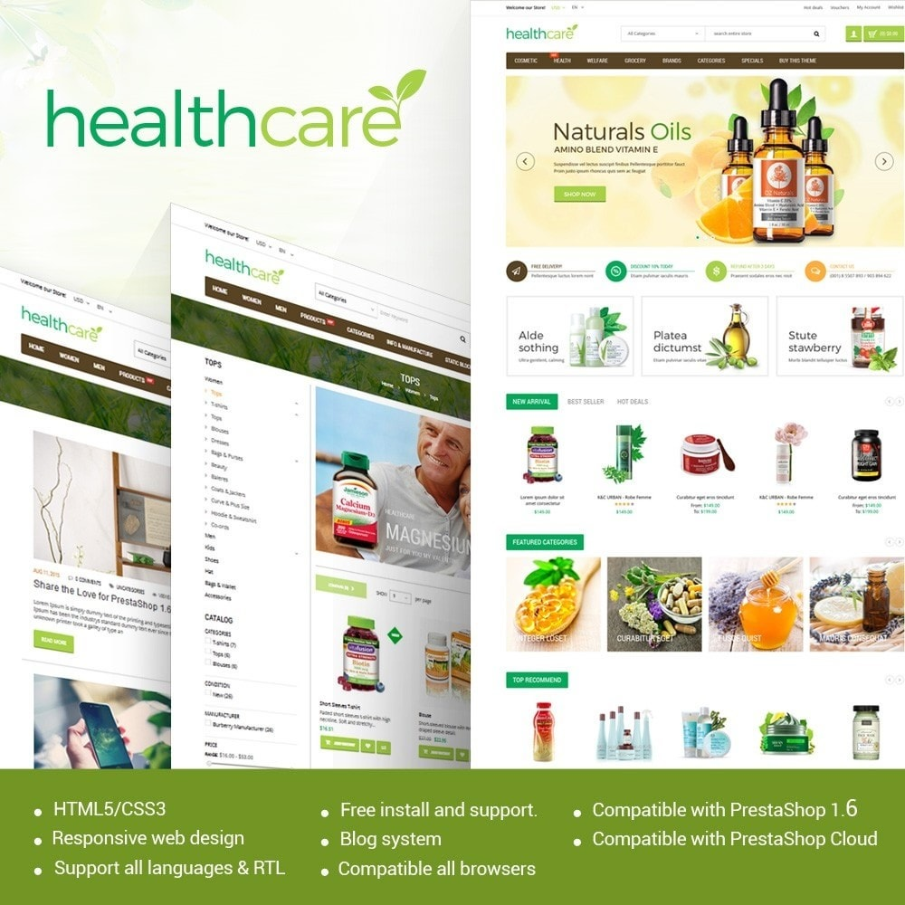 theme - Salute & Bellezza - HealthCare - Bio & Medical Store - 1