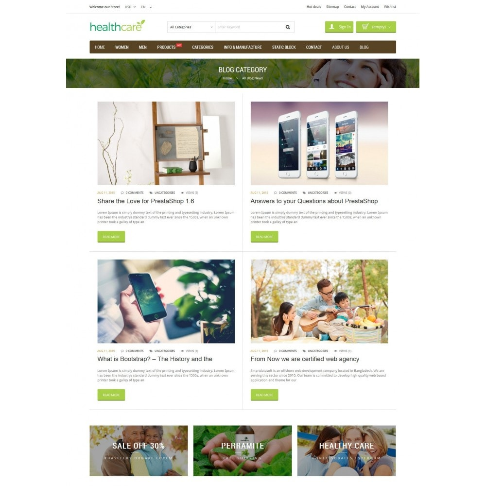 theme - Salute & Bellezza - HealthCare - Bio & Medical Store - 6