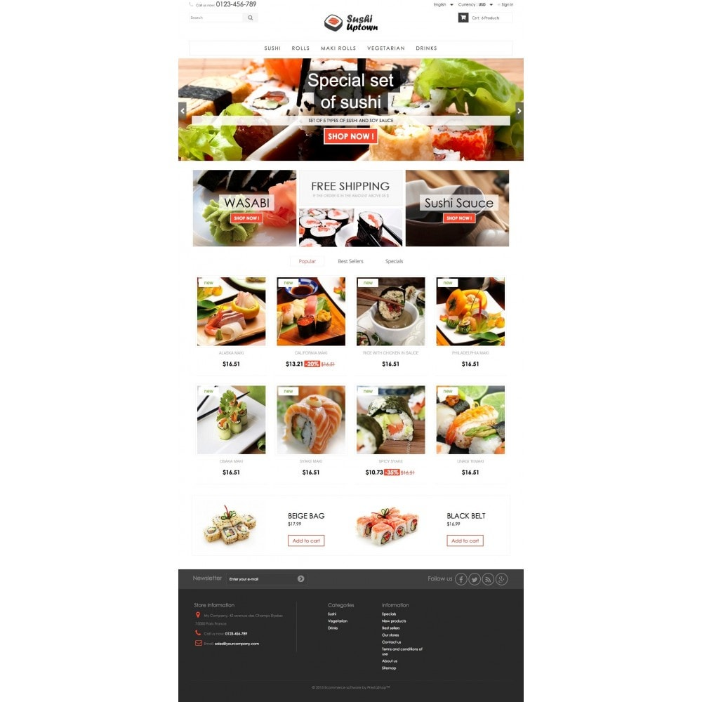 theme - Alimentation & Restauration - Sushi Uptown 1.6 Responsive - 2