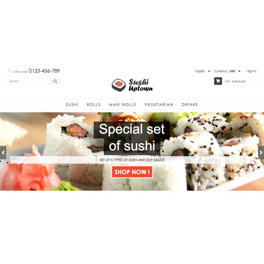theme - Alimentation & Restauration - Sushi Uptown 1.6 Responsive - 3