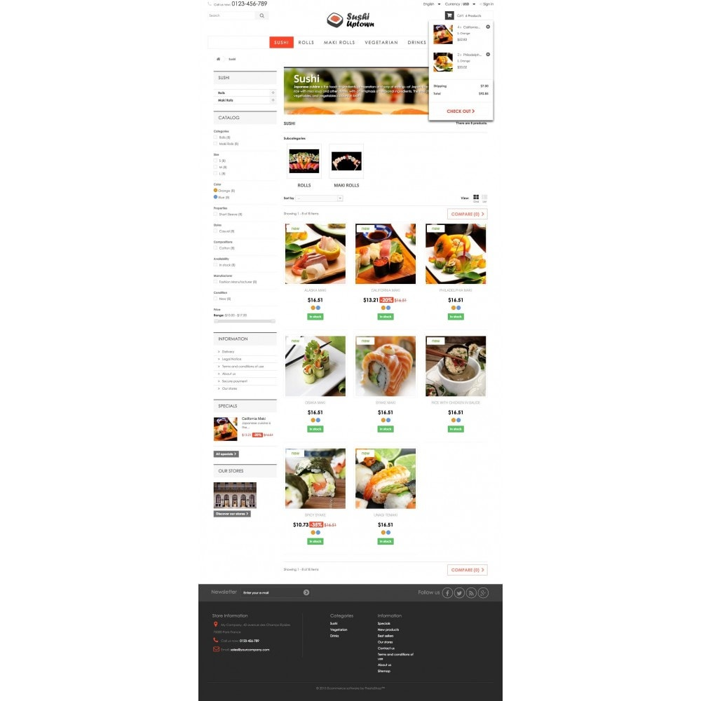 theme - Alimentation & Restauration - Sushi Uptown 1.6 Responsive - 5