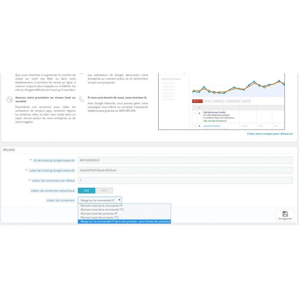 module - Référencement payant (SEA SEM) & Affiliation - Google Adwords Conversions - 3