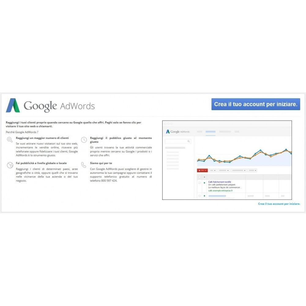 module - Indicizzazione a pagamento (SEA SEM) & Affiliazione - Google Adwords Conversioni - 1
