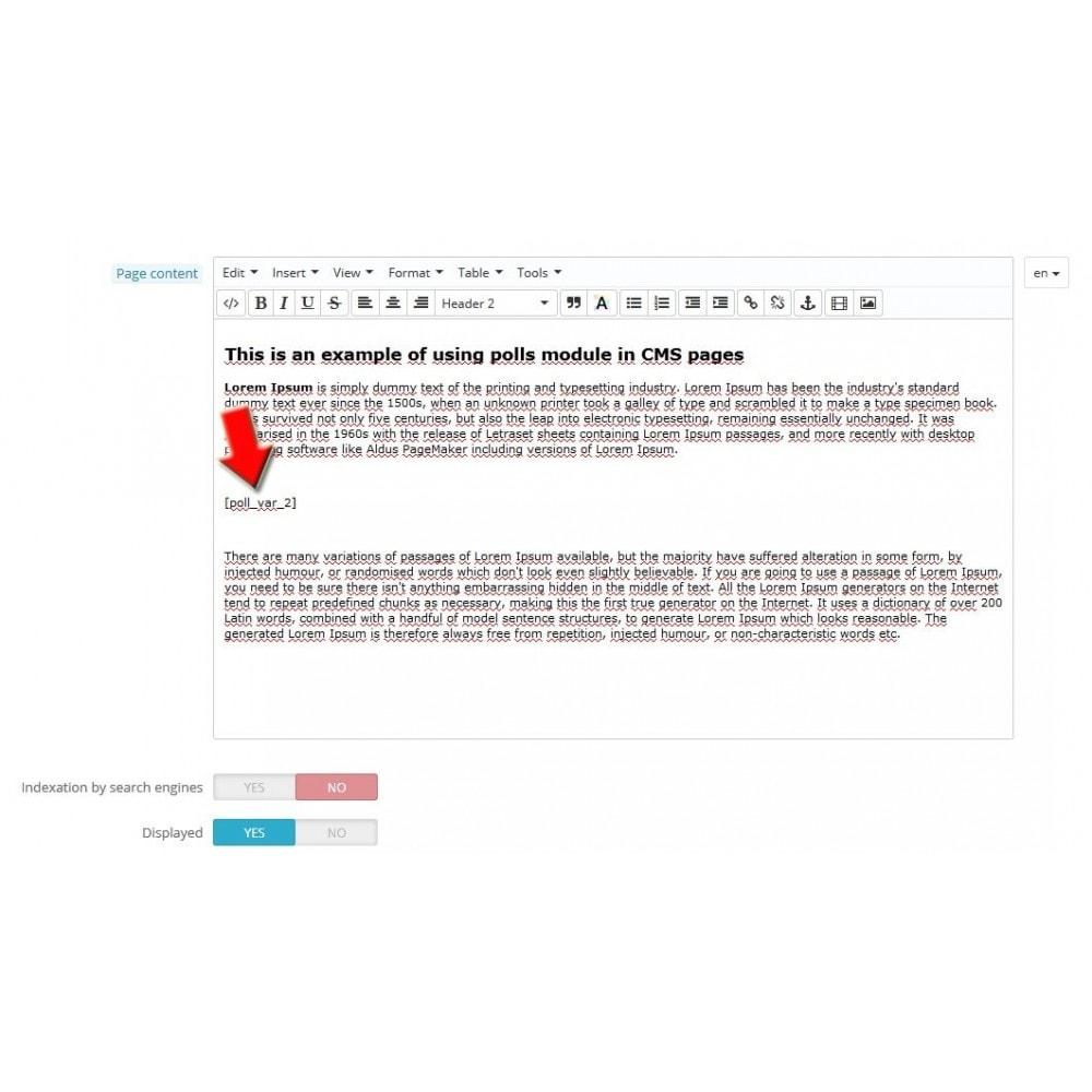 module - Форма обратной связи и Опросы - Опросы в любом месте - 10