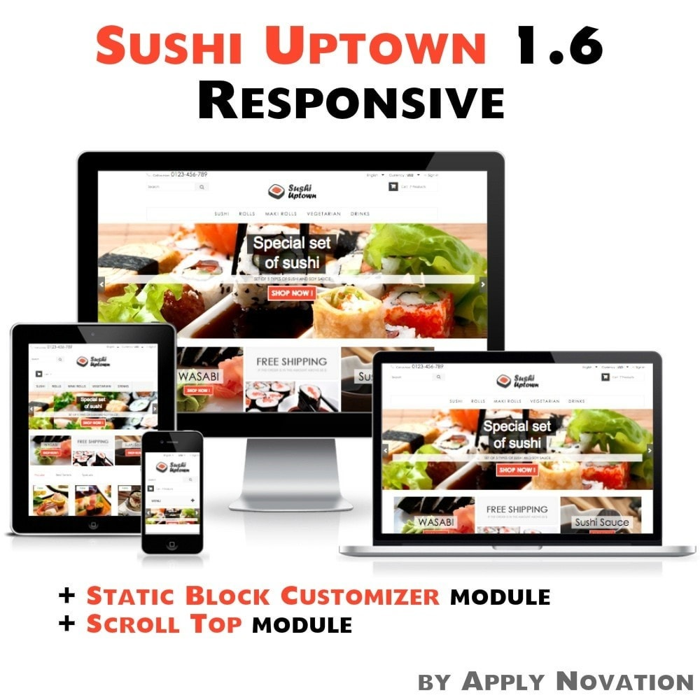 theme - Alimentation & Restauration - Sushi Uptown 1.6 Responsive - 1