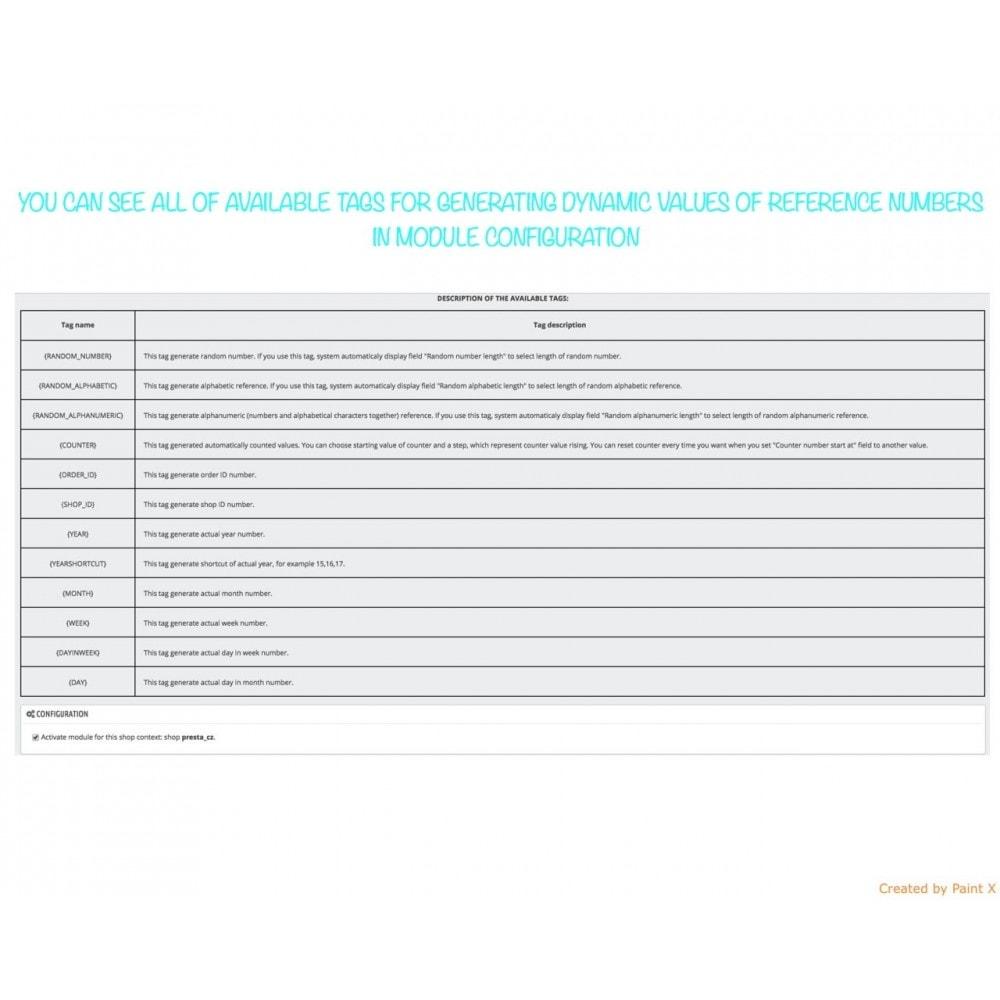module - Бухгалтерии и выставления счетов - Custom number-orders,invoices,delivery and credit slips - 5
