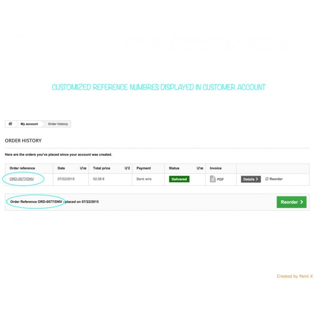 module - Бухгалтерии и выставления счетов - Custom number-orders,invoices,delivery and credit slips - 7