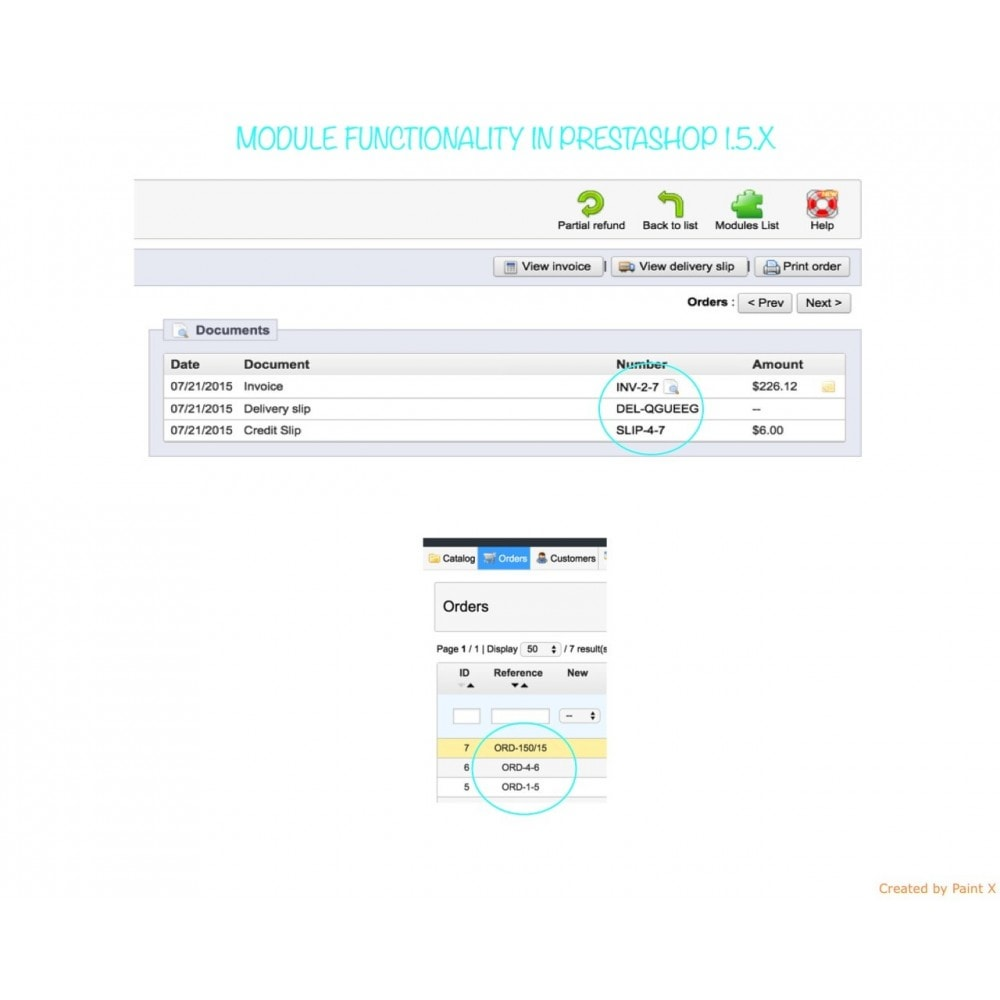 module - Accounting & Invoicing - Custom number-orders,invoices,delivery and credit slips - 8