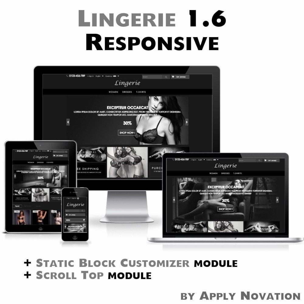 theme - Lingerie & Adulte - Lingerie 1.6 Responsive - 1