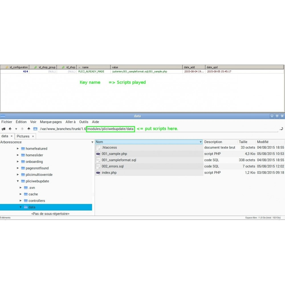 module - Administrative Tools - Developper Tools - 3