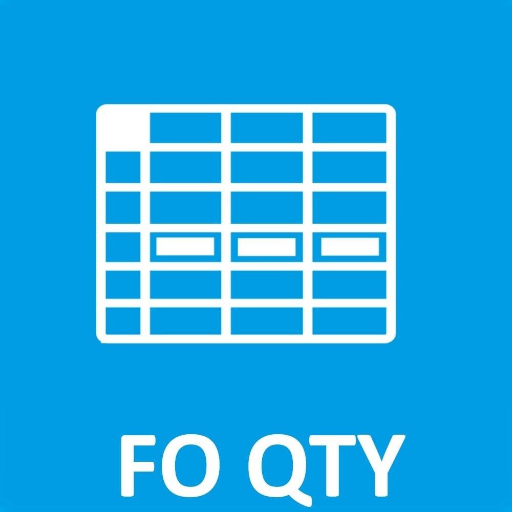 module - Déclinaisons & Personnalisation de produits - FO Prix quantité&déclinaison, quantités multiple - 1