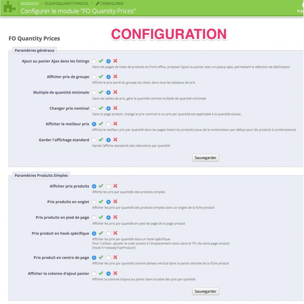 module - Déclinaisons & Personnalisation de produits - FO Prix quantité&déclinaison, quantités multiple - 6