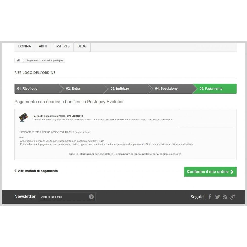 module - Pagamento con Carta di Credito o Wallet - Postepay Evolution - 1