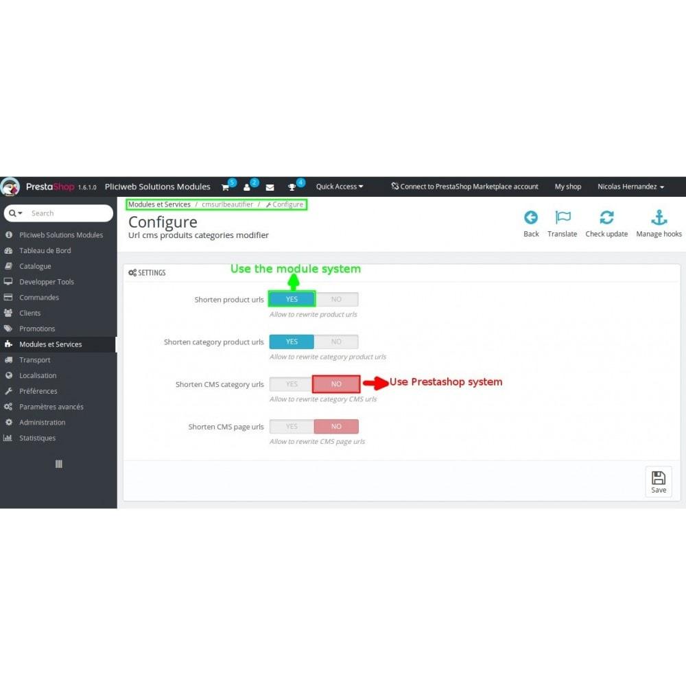 module - URL & Omleidingen - Url cms produits categories modifier - 11