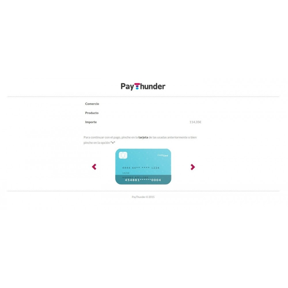 module - Payment by Card or Wallet - PayThunder - 1