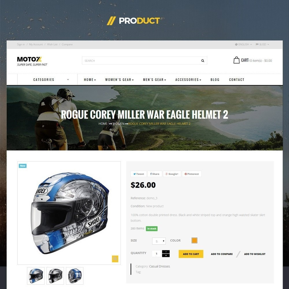 theme - Desporto, Actividades & Viagens - Leo Moto Prestashop 1.6 and 1.7 Theme - 4