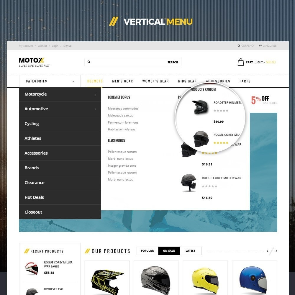 theme - Desporto, Actividades & Viagens - Leo Moto Prestashop 1.6 and 1.7 Theme - 6