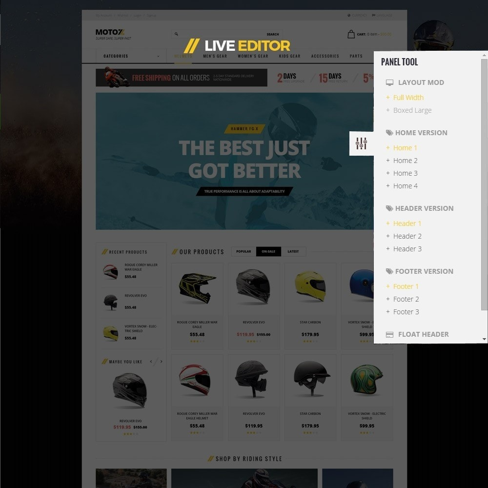 theme - Desporto, Actividades & Viagens - Leo Moto Prestashop 1.6 and 1.7 Theme - 10