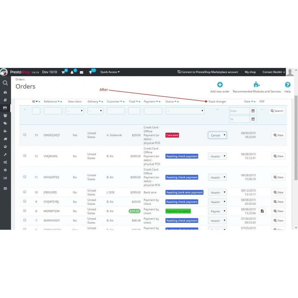 module - Edição rápida & em massa - Quick order status update / Fast status change - 3