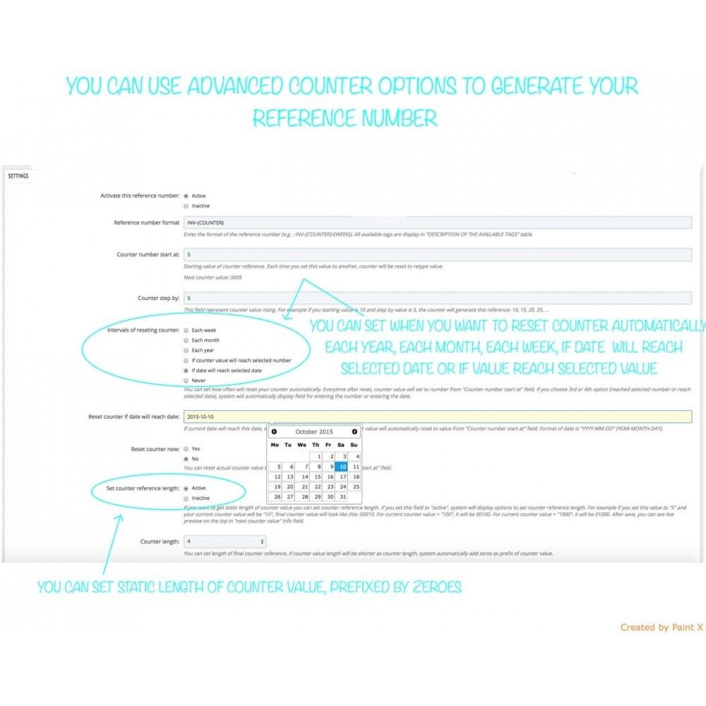 module - Бухгалтерии и выставления счетов - Custom number-orders,invoices,delivery and credit slips - 4