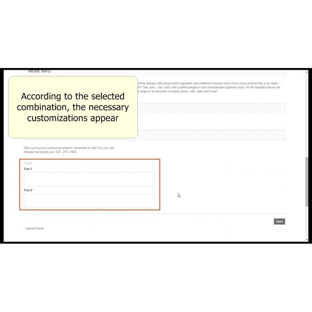 module - Bundels & Personalisierung - Customizations by combination - 6